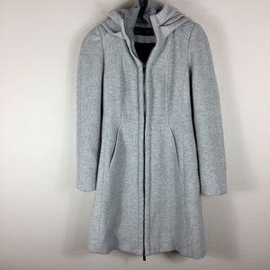 Zara   Grey Coat with Hoodie